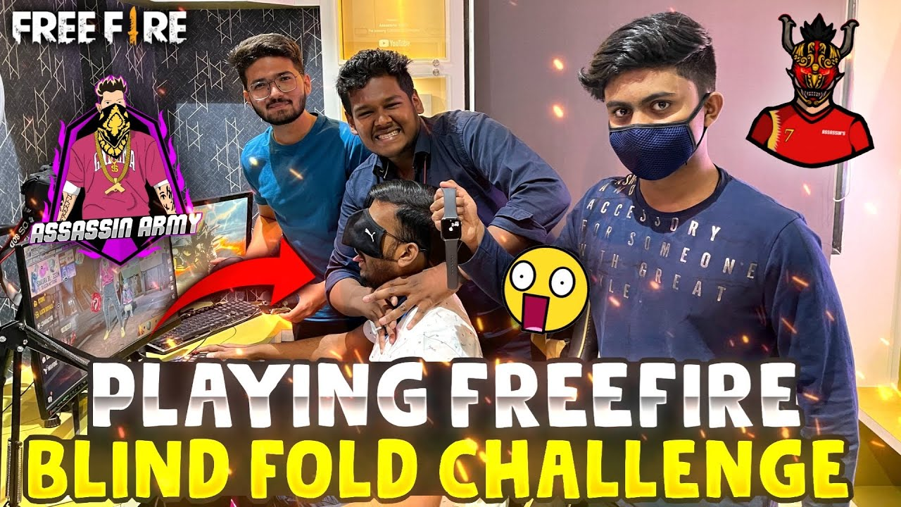 Blind Fold Challenge Gone Wrong Rip 53000 rs I phone watch 😱 - Garena Free Fire