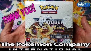 THE POKEMON COMPANY INTERNATIONAL SENT ME THIS AMAZING FORBIDDEN LIGHT BOOSTER BOX! P1