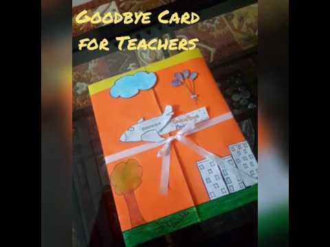 ☺Goodbye Card for teachers😄..by craftblast arshianushka