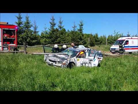 Akcja ratownicza po wypadku na rajdzie Gdańsk Baltic Cup 2017