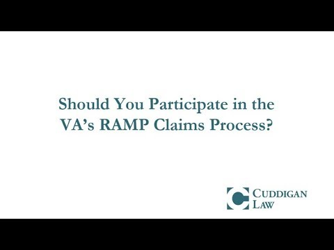 Should You Participate in the VA's RAMP Claims Process?