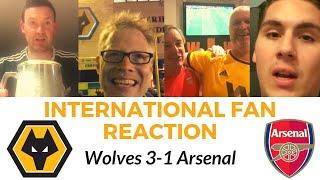 HAPPY WOLFS 🤗 Wolves 3-1 Arsenal 🌎 GLOBAL FAN REACTION