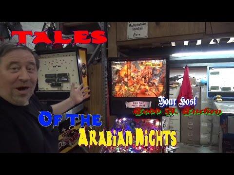 #831 Williams stunning TALES FROM THE ARABIAN NIGHTS Pinball Machine! TNT Amusements