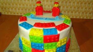 ТОРТ ЛЕГО Как сделать торт ЛЕГО CAKE LEGO
