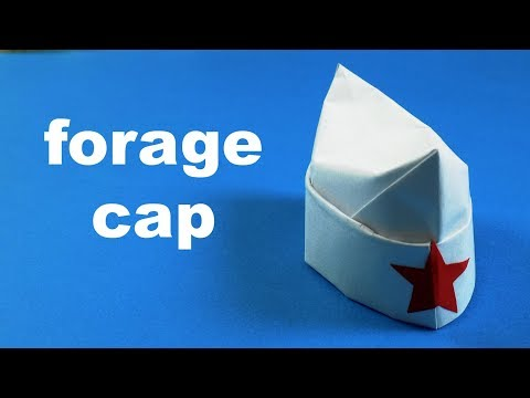 How to make a paper forage-cap  Origami Cap  Paper Cap