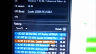 Dell Precision M4600 Benchmark