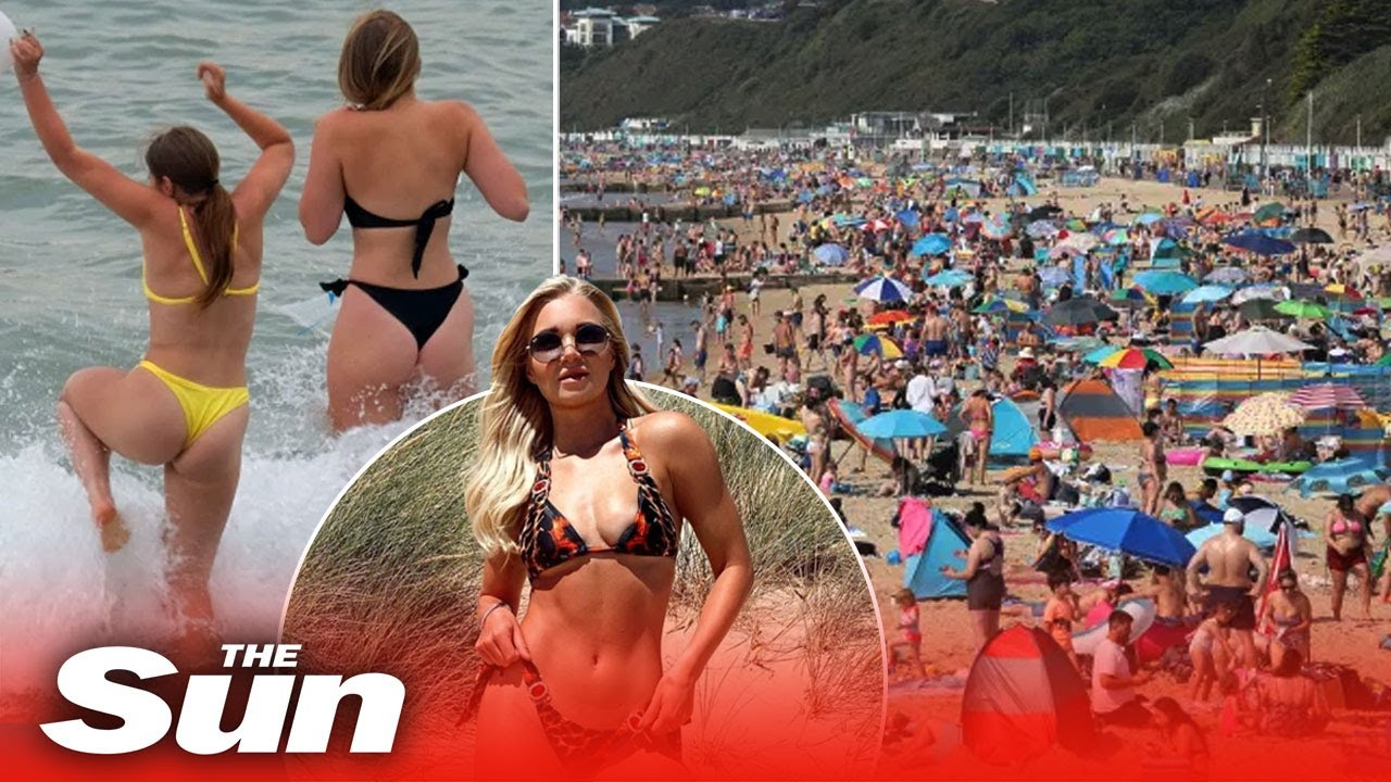 Brits race to beaches amid two mile queues to bag spot in 32C sun as coastal roads become gridlocked
