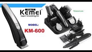 Unboxing Kemei Super Grooming KIT# KM-600 #11 IN 1#/Mao Theara Channel