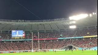 【ラグビーW杯】ニュージーランド×ウェールズ PKがゴールポストに当たる/ Rugby World Cup 2019 Bronze Final NZ Hit the goal post 現地観戦
