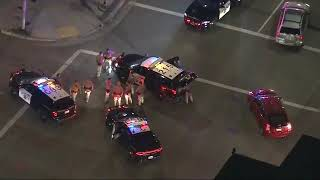 High-speed pursuit ends in violent crash in downtown L.A.