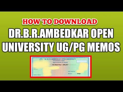 Download Dr.B.R.Ambedkar Open University UG/PG Memos in Telugu | Mukkani Brothers
