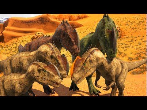 Download Família Monolophosaurus, Bebês Em Perigo Nas Garras De Predadores! Ark Dino Evolved (PT/BR)