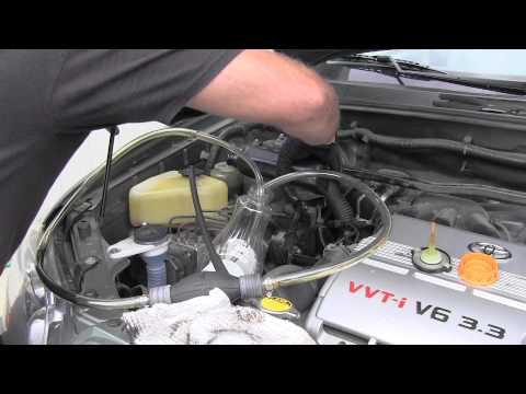 toyota highlander power steering fluid inspection , flush youtube