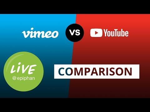 YouTube vs Vimeo Live Comparison