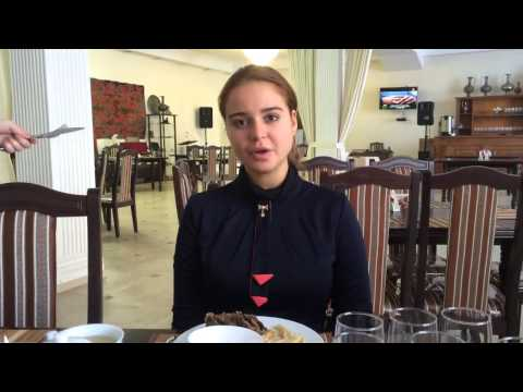 Two Girls visiting Grozny Chechnya