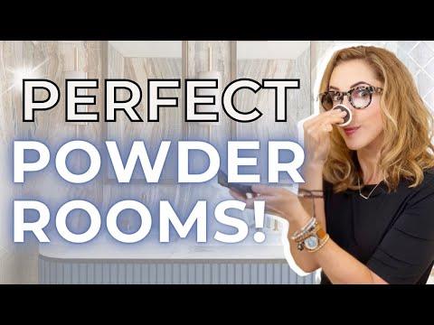 SECRET DESIGNER TRICKS | PERFECT POWDER ROOMS!