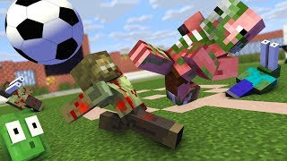 Monster School : FIFA FOOTBALL ZOMBIE APOCALYPSE Challenge - Minecraft Animation