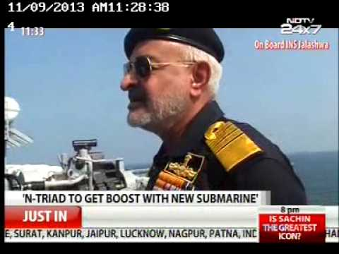 Admiral DK Joshi,Chief of the Naval Staff interview to NDTV on 06 Nov 13 part I