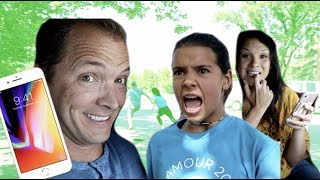 Parents PRANK Klai! | We gave her IPHONE away!
