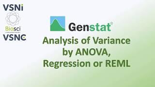 ANOVA,Regression or REML on Genstat