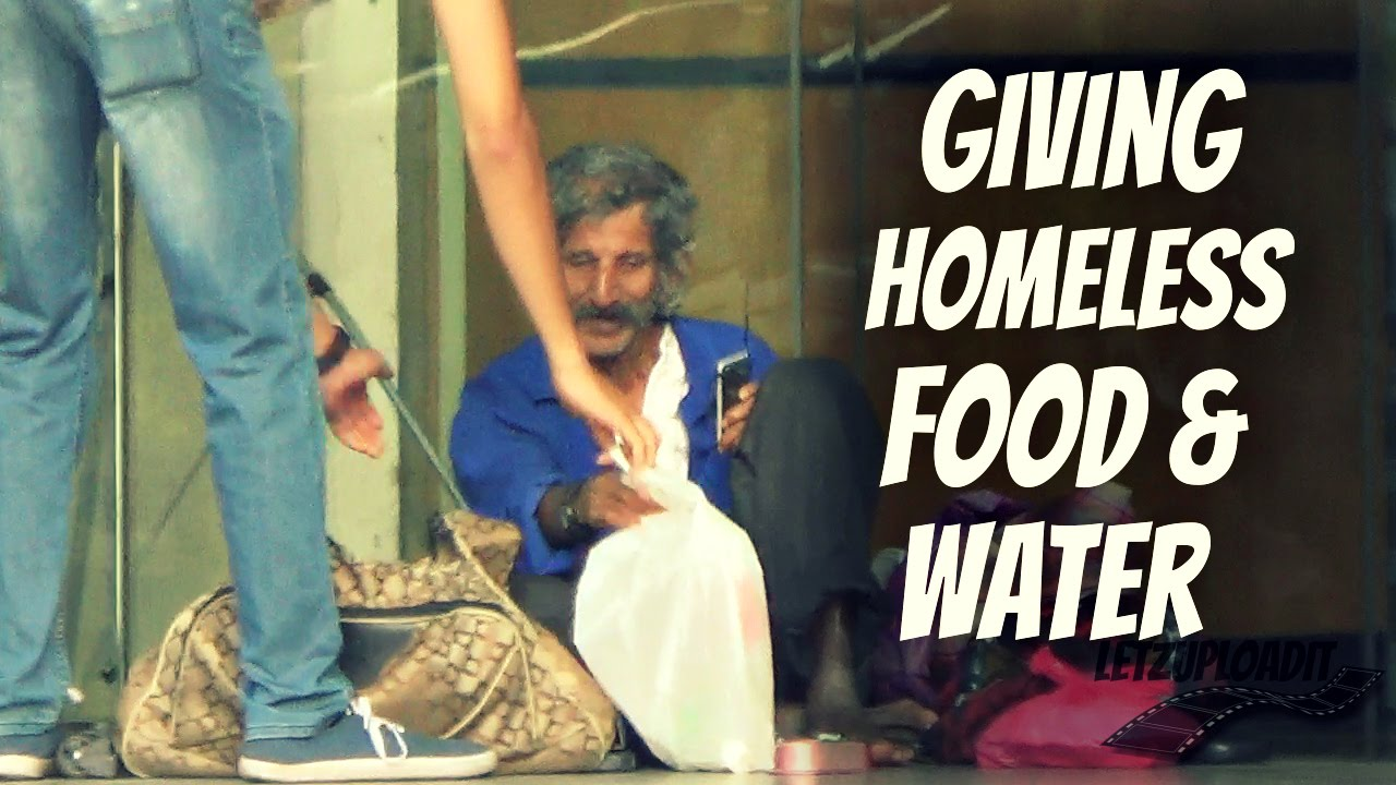 Giving food and water ...