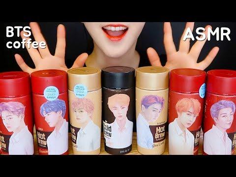 ASMR BTS COFFEE ASMR BTS COLD BREW COFFEE DRINKING ASMR WITH CHOCOLATE EATING SOUND