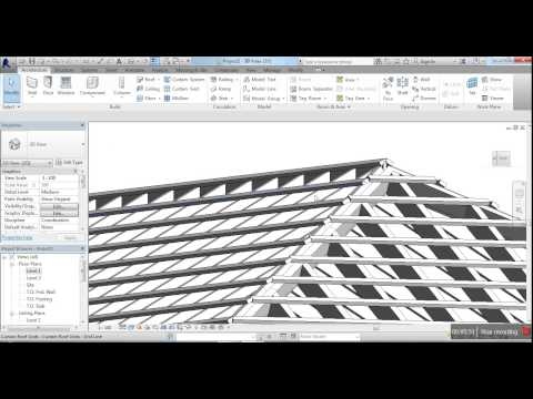 Create Roof Using Curtain wall