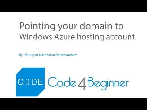 Point you domain to Windows Azure hosting  - Code4beginner.com
