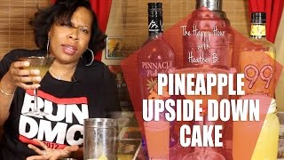 Pineapple Upsidedown Cake Martini -by The Happy Hour With Heather B.