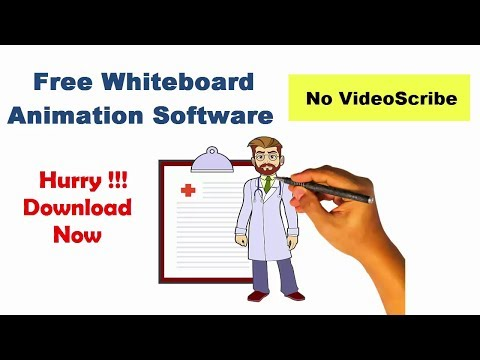Free Whiteboard Animation Software Without Videoscribe | Free Hand Drawing Hand Sketch