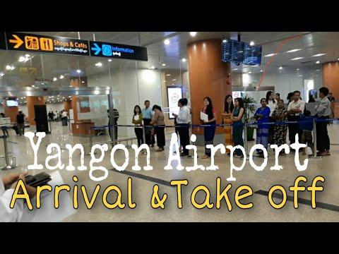 Yangon International Airport Myanmar Arrival And Departure Youtube