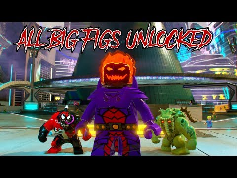 LEGO Marvel Super Heroes 2 - All Big Figs Unlocked and Showcased!