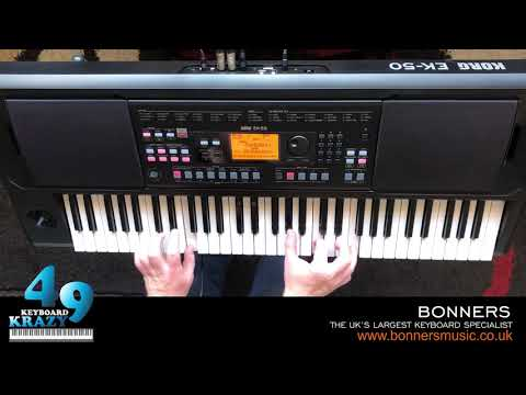 Korg EK-50 Keyboard - 744 Sounds Part 2/3