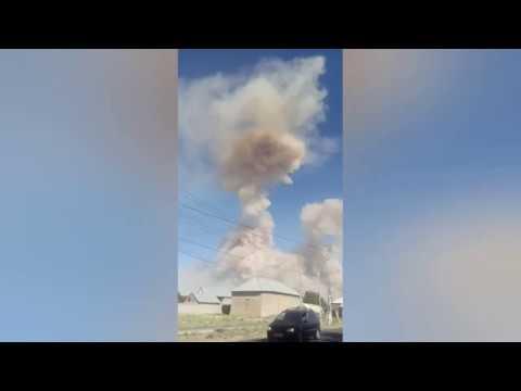 Explosion in Kazakhstan 🇰🇿 city Arys! June 24 , 2019