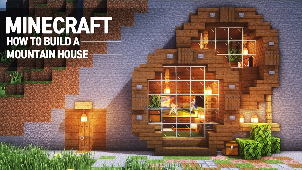 Minecraft   Mountain House Tutorial Uff5chow To Build In Minecraft   66