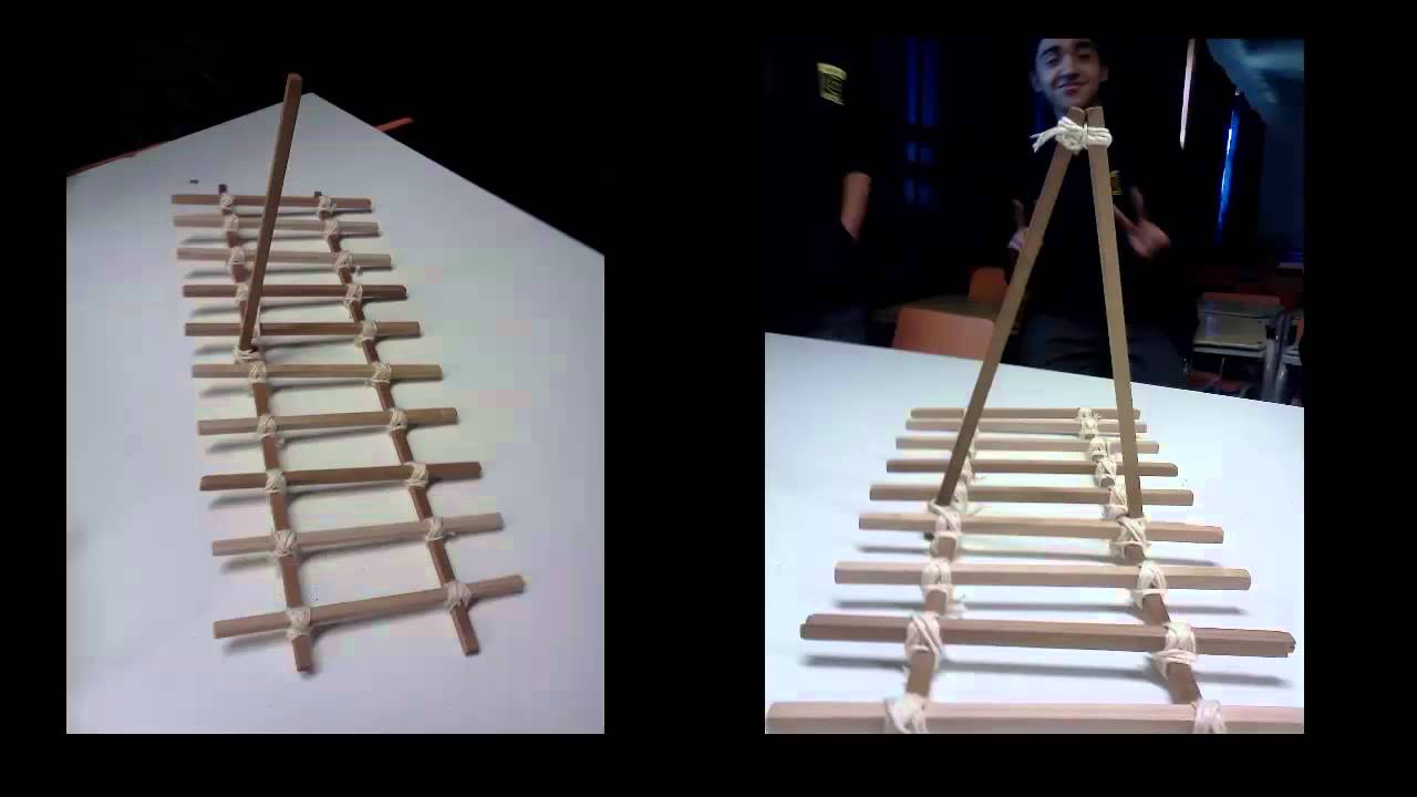 Como hacer un puente de amarras youtube for Como construir pileta de material