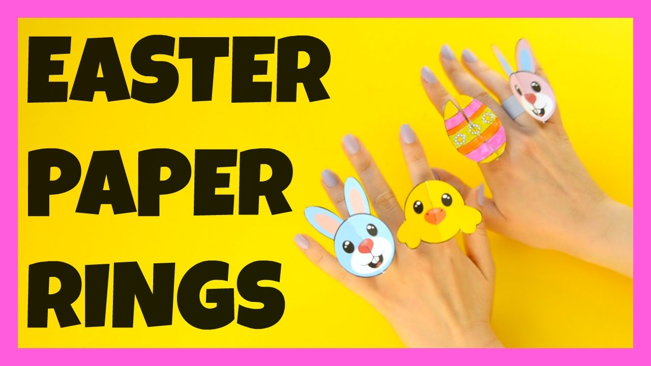 Easter paper craft ideas - Easter Paper Rings Paper Craft Ideas