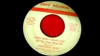 UNIVERSAL JOINT LOVE WON`T WEAR OFF (AS THE YEARS WEAR ON) 1968 CocoSoul