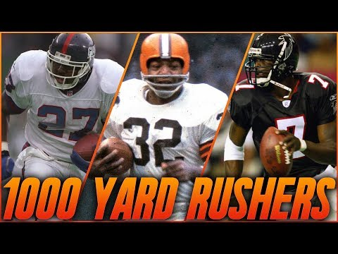 Every 1000 Yard Rusher in NFL History