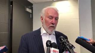Gregg Popovich Postgame Interview / Spurs vs Timberwolves