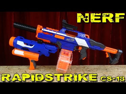 Fire Fiend Gatling Vs Nerf Rapidstrike Cs 18 Doovi