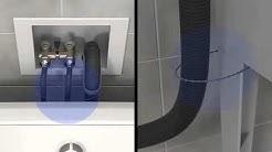 Washing Machine Drain Hose Installation Tutorial  | Whirlpool Self Help Videos