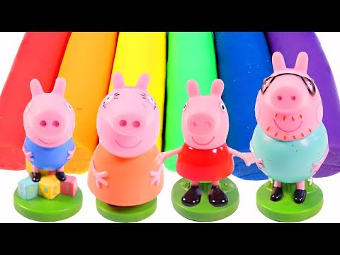 Mejores Videos Para Niños - Peppa Pig Family Molds Play Doh Fun Videos For Children
