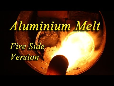 Metal Melting with Free Fuel waste oil. Fireside Version.
