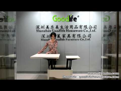 The usage of multi-fuctional coffee table from Goodlife