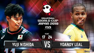 Yuji Nishida vs Yoandy Leal | Japan vs Brazil | World Cup 2019