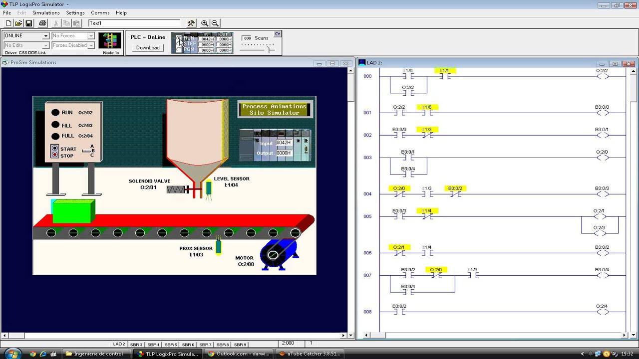 silo simulator en tlp logixpro