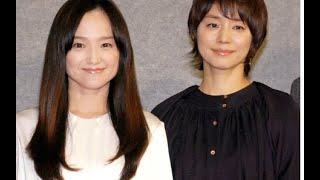 NHKドラマ『さよなら私』の試写会で。 主演を務める女優の永作博美と石...