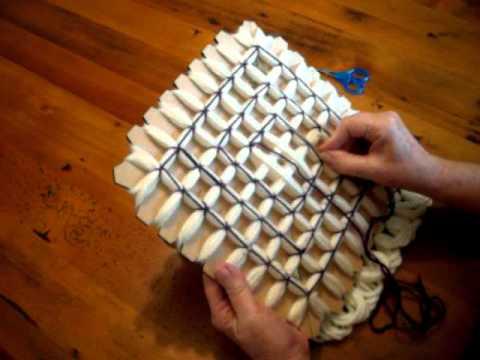 Pom Pom Blanket Loom Board Part 1 Pompom Blanket Youtube