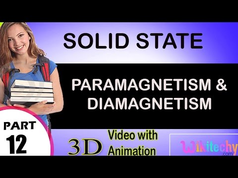 paramagnetism and diamagnetism solid state class 12 chemistry subject notes lectures cbse